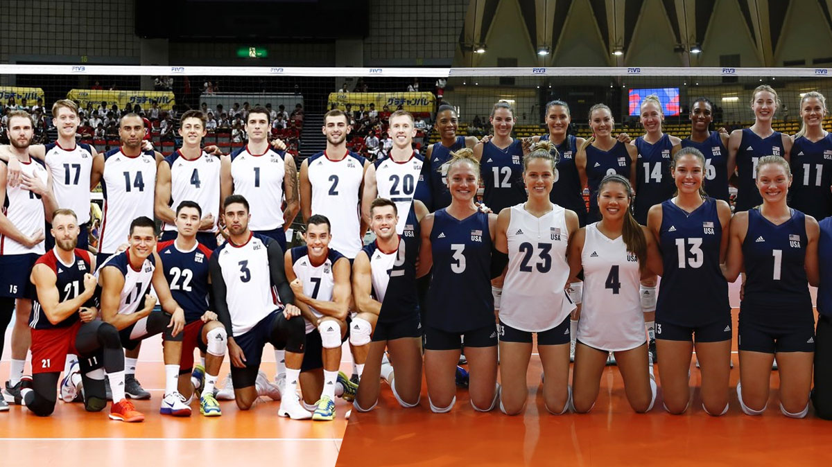 Volleyball: Comparison Of The American Male And Female Teams With The World